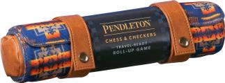Pendleton Chess & Checkers Set Travel Ready Roll Up Game