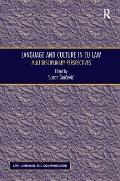 Language and Culture in Eu Law: Multidisciplinary Perspectives