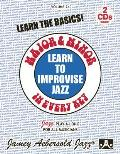 Jamey Aebersold Jazz -- Learn to Improvise Jazz -- Major & Minor in Every Key, Vol 24: Learn the Basics!, Book & 2 CDs