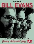 Jamey Aebersold Jazz Bill Evans Volume 45 Book & CD