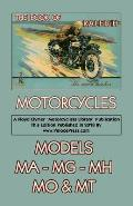 Book of Raleigh Motorcycles Models Ma, Mg, Mh, Mo & MT