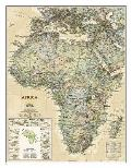 National Geographic Reference Map||||National Geographic: Africa Executive Wall Map - Laminated (24 x 30.75 inches)