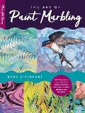 Art of Paint Marbling Tips techniques & step by step instructions for creating colorful marbled art on paper