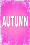 Autumn: 100 Pages 6 X 9 Personalized Name on Journal Notebook