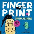 Fingerprint Monsters and Dragons: And 100 Other Adventurous Creatures