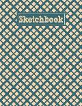 Sketchbook: 8.5 x 11 Notebook for Creative Drawing and Sketching Activities with Retro Themed Cover Design