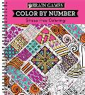 Color by Number Stress-Free Coloring Pink
