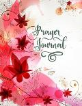 Prayer Journal: Red Floral Christian Bible Study Planner Journal Notebook Organizer - Women Weekly Daily Verse Scripture Prayer Notes