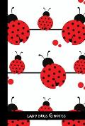 Lady Bugs & Notes: small lined Lady Bug Notebook / Travel Journal to write in (6'' x 9'') 120 pages