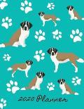 2020 Planner: 2020 Monthly Planner Organizer Undated Calendar And ToDo List Tracker Notebook St Bernard Dog