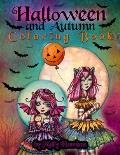 Halloween and Autumn Coloring Book by Molly Harrison: A Halloween coloring book featuring 25 pages of line art to color! Witches, Vampires, and More!