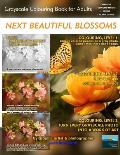 Next Beautiful Blossoms - Grayscale Colouring Book for Adults (Low Contrast): Edition: Full pages