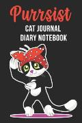 Purrsist Cat Journal Diary Notebook