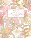 2020 Weekly And Monthly Planner: Pretty Floral With Inspirational Quotes, Habit Tracker And 2020 Goal Planner - January to December