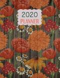 2020 Planner: The Vintage Wood Flower Theme Mix and Match Weekly Planner