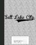 Graph Paper 5x5: SALT LAKE CITY Notebook