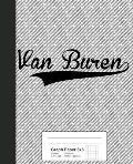 Graph Paper 5x5: VAN BUREN Notebook