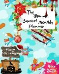The Ultimate Merry Christmas Squirrel Monthly Planner Year 2020: Best Gift For All Age, Keep Track Planning Notebook & Organizer Logbook For Weekly An