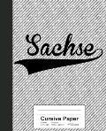 Cursive Paper: SACHSE Notebook