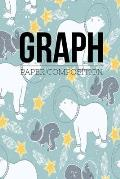 Graph Paper Composition Notebook: Graph Paper 6 x 9 Artic Bear And Rabbit Quad Ruled 4x4, Grid Paper for school student, office, kids Notebooks