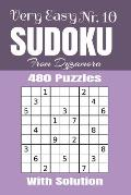 Very Easy Sudoku Nr.10: 480 puzzles with solution