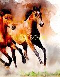 Notebook: watercolor horse animal artistic nature design horses equine equestrian