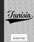 Cursive Paper: TUNISIA Notebook