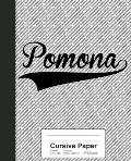 Cursive Paper: POMONA Notebook