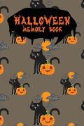 Halloween Memory Book: An Activity Book for Kids to Record Their Halloween Day - Coloring - Drawing - Journaling - Pumpkin Cat