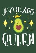 Avocado Queen: Avocado Journal, Blank Paperback Notebook for Guacamole Lovers, 150 pages, college ruled