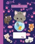 Composition Notebook: College Ruled - Kitty Cat And Funny Kitten - Back to School Composition Book for Teachers, Students, Kids, Boys and Gi