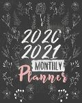 2020-2021 Monthly Planner: Blue Sky 8x10inch 2 Years Monthly Planner Calendar Schedule Organizer From January 1,2020 to December 31,2021 (24 Mont