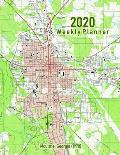 2020 Weekly Planner: Moultrie, Georgia (1978): Vintage Topo Map Cover
