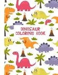 Dinosaur Coloring Book: Coloring Toy Gifts for Kids 2-4,4-8, Children or Adult Relaxation - Cute Easy and Relaxing Large Print Educational Bir
