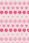 Notes: A Blank Squared Paper Journal with Simple Pink Striped Flower Pattern Cover Art