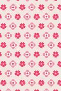 Notes: A Blank Sketchbook with Simple Pink Flower Pattern Cover Art