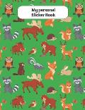 My personal Sticker Book: forest animals motive - Din A4 blank - 35 pages silicon free paper - gift idea