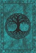 Yggdrasil Norse Tree of Life: Notebook Journal. Norse Mythology. Tree Of Life on (faux) Iron Clad Book. Spiritual Symbol Connecting The Nine Worlds.