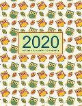 2020 Planner Weekly & Monthly 8.5x11 Inch: Pretty Owl One Year Weekly and Monthly Planner + Calendar Views