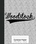 Cursive Paper: WOODSTOCK Notebook