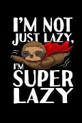 Notebook: Sloth Superhero Lazy Sleeping Tired Sweet Gift 120 Pages, 6X9 Inches, Blank