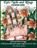Epic Nails and Rings Coloring Book