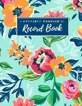 Property Manager's Record Book: For Landlord Record Keeping & Log Book - All-In-One Notebook - Insurance, Financing, Tenants, Maintenance - Bookkeepin