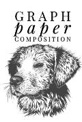 Graph Paper Composition: Graph Paper 6 x 9 Dog Quad Ruled 4x4, Grid Paper for school student, office, kids Notebooks