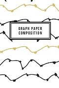Graph Paper Composition: Graph Paper 6 x 9 Holly Jolly Quad Ruled 4x4, Grid Paper for school student, office, kids Notebooks