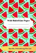 Cute Watermelon Theme Wide Ruled Line Paper