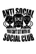 Notizbuch: Anti Social Club Mobbing Einzelg?nger Geschenk 120 Seiten, 6X9 (Ca. A5), Liniert