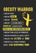 Obesity Warrior: Adipositas Bewusstsein Starker Krieger Medizinische Gesundheit Notizbuch gepunktet DIN A5 - 120 Seiten f?r Notizen, Ze