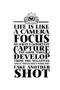 Notebook: Life Motivation Camera Restart Fun Gift 120 Pages, 6X9 Inches, Blank
