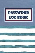 Password Log Book: Logbook To Protect Usernames, Internet Websites and Passwords Kraft And Water Color Cover